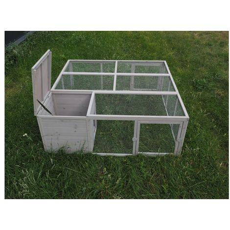 Deluxe Chicken Coop hen-house Box Rabbit Hutch 160 * 160 * 60 cm