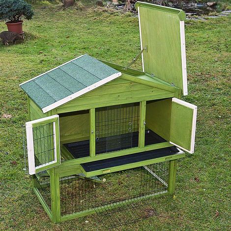 Deluxe Chicken Coop hen-house Box Rabbit Hutch L 117 x T 66 x H 114,5 cm
