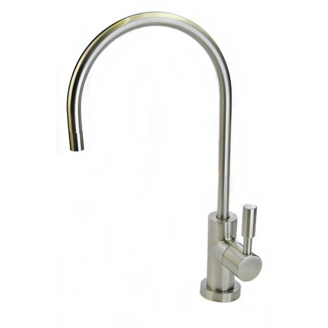 "Deluxe Euro-luxury RO Tap 1/4""- Brushed Nickel Finish. Fits all water filter & RO systems."
