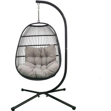 "main image of ""Deluxe Garden Hanging egg chair"""
