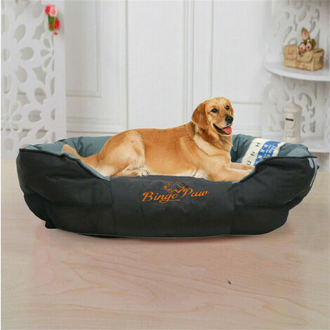 Deluxe Jumbo Dog Bed Soft Removable Cushion Warm Luxury Warm Pet Basket - different size available