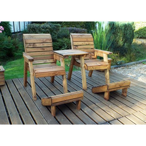 Deluxe Lounge Set-Straight Tray + 2 Foot Stools HB118