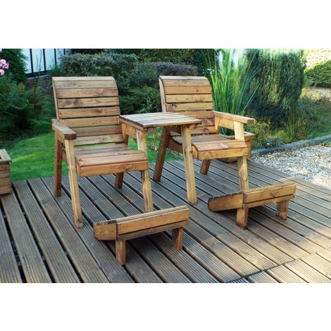 Deluxe Lounger Set (Straight), Wooden Quality Garden Furniture, fully assembled
