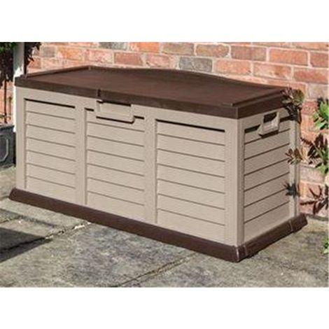"main image of ""Deluxe Mocha Plastic Storage Box/bench"""