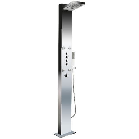 Deluxe Stainless Steel Big Ben Floor Standing Shower Panel