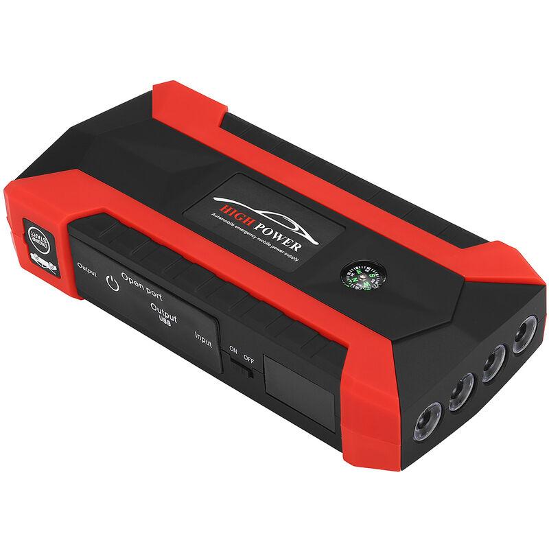 Démarreur de voiture portable 99990mAh 12V Dispositif de démarrage d'urgence 4 USB (prise EU)
