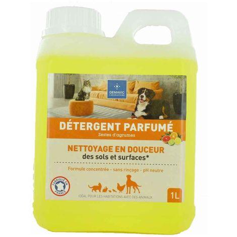 Demavic - Détergent Parfumé Agrume pour Habitat Animal - 1L