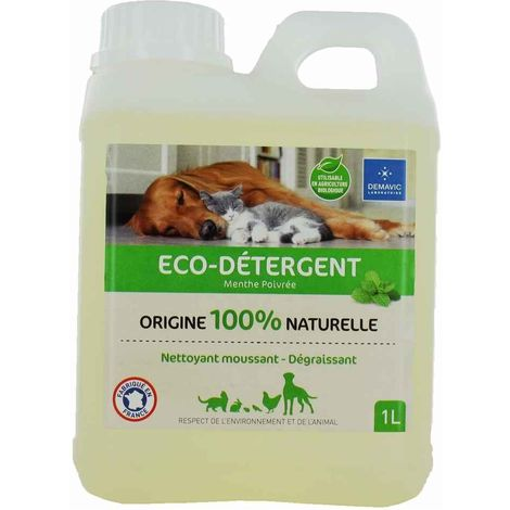 Demavic - Eco-Détergent Menthe 100% Naturel pour Habitat Animal - 1L