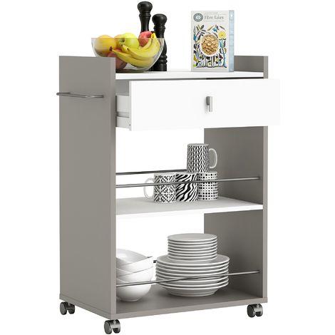 Demeyere 413480 - Mobiletto da cucina con 1 cassetto e 2 scaffali ...