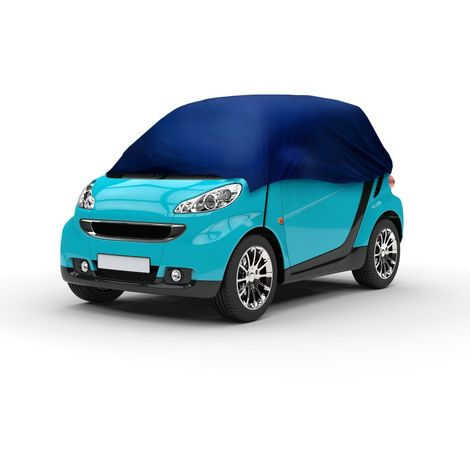 Demi bâche de protection housse voiture Smart Fortwo Toyota 214 x 146 x 55 cm