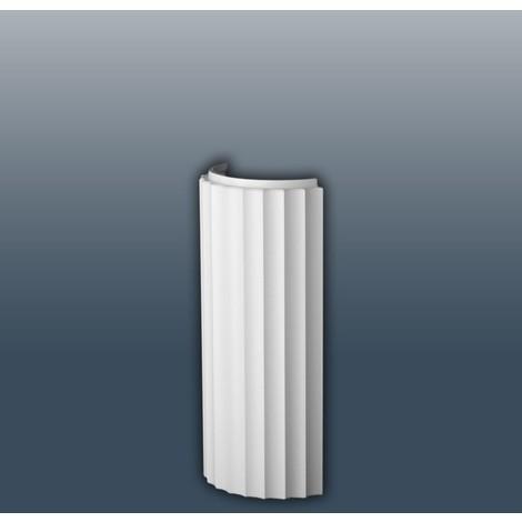 Demi-colonne Fût Profil en relief classique Orac Decor K4001 LUXXUS Elément de décoration de stuc pour le mur 72 cm