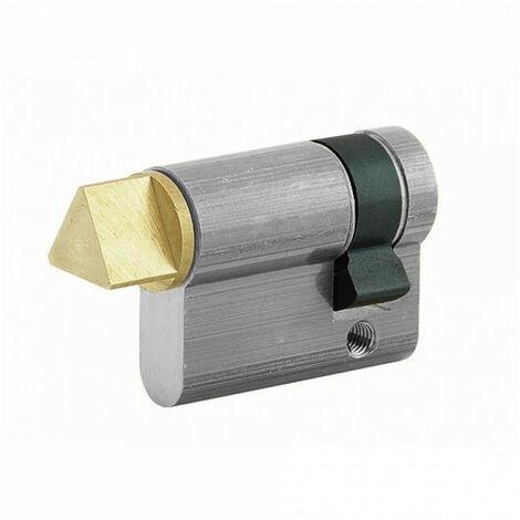 Demi cylindre accès pompier à triangle 30x10mm