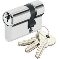 Demi Cylindre de securite pour porte barillet 10x30 mm Alpha Bricard 3 cles