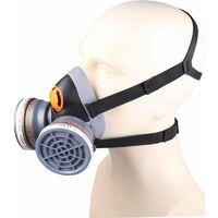Demi-masque confort bi filtre équipé de 2 galettes filtrantes A2 et 2 pré-filtres P3 DELTA PLUS M6400 SPRAY KIT- M6400EA2P3R - -