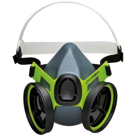 Demi masque de protection à double filtre réutilisable