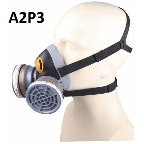 demi-masque jupiter + 2 galettes a2p3 confort bi-filtres