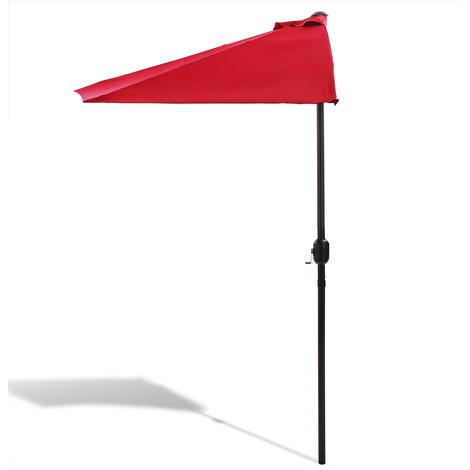 Demi Parasol Avec Manivelle Terrasse Balcon Rouge 1029918999