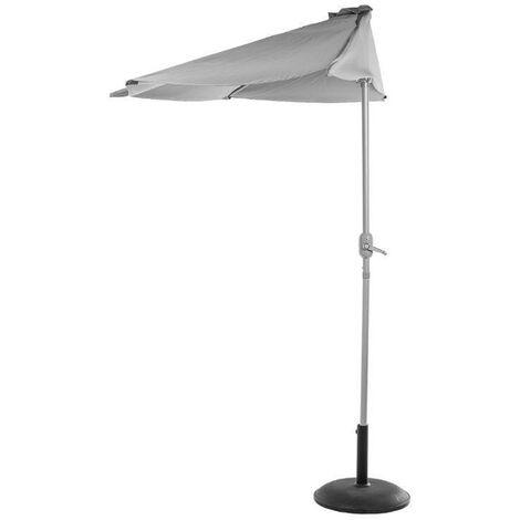 Demi parasol de balcon Serena Gris