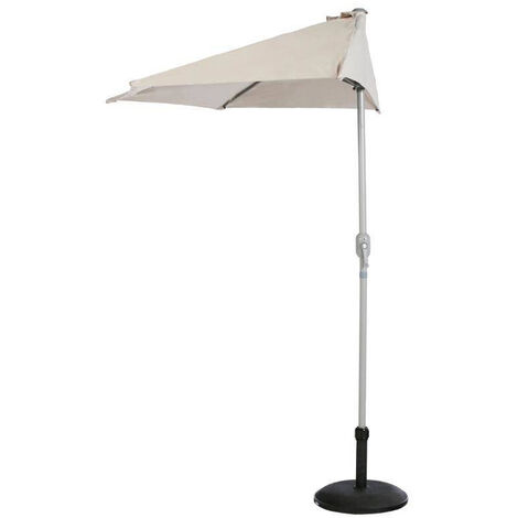 Demi parasol de balcon Serena Taupe