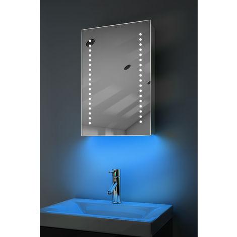Demist Cabinet With LED Under Lighting, Sensor & Internal Shaver Socket K345b