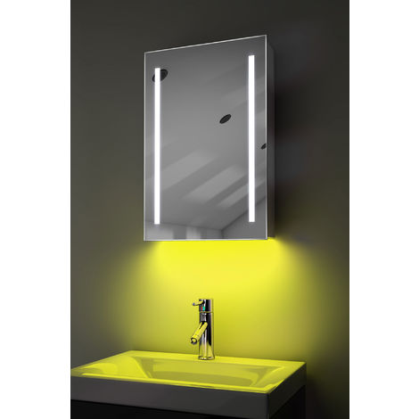 Demist Cabinet With LED Under Lighting, Sensor & Internal Shaver Socket k348y