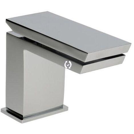 Demm Razor Waschbeckenarmatur Einhandmischer hochwertige Ausführung freier Auslauf mit Pushopen Ablaufventil, 31241.001.C, 85 x 10