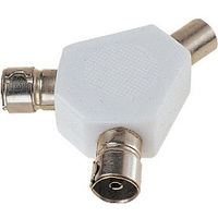 Dencon 2 Way TV Aerial Coax Splitter Y Adaptor Signal Rf cable **High Quality**
