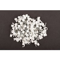 Dencon 4mm White Round Cable Clips Box 100 Fast Postage