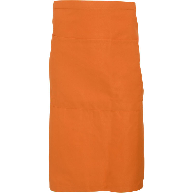 Image of Adults Unisex Catering Waist Apron With Pocket (Pack of 2) (One Size) (Orange) - Dennys