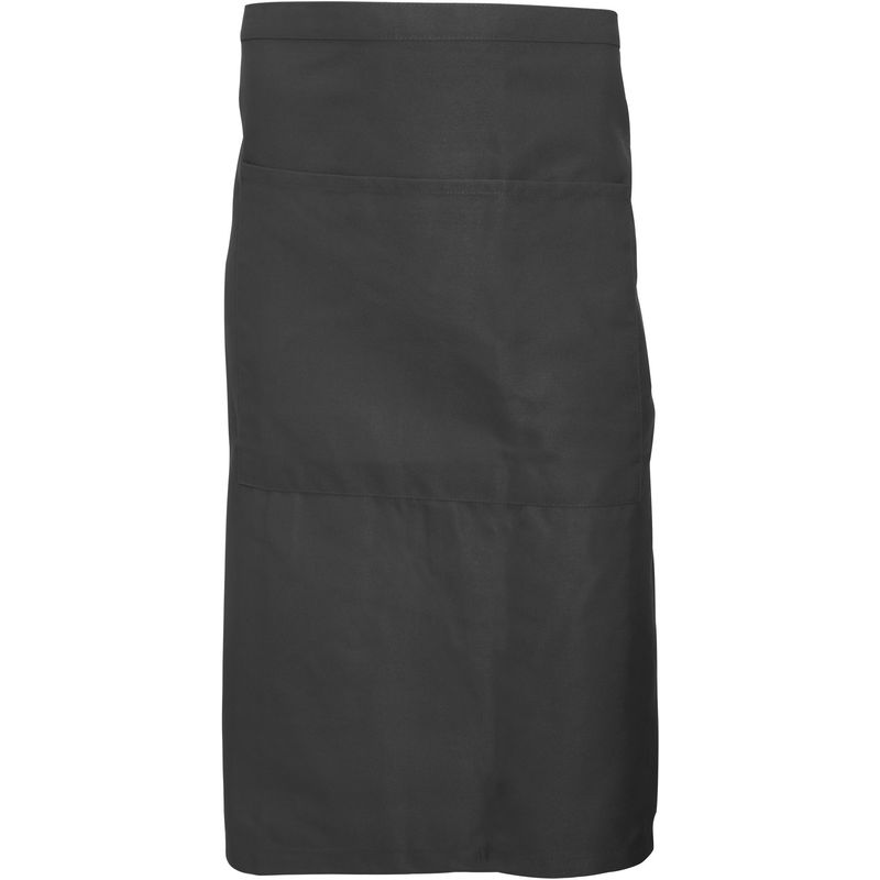 Image of Adults Unisex Catering Waist Apron With Pocket (Pack of 2) (One Size) (Peat) - Dennys