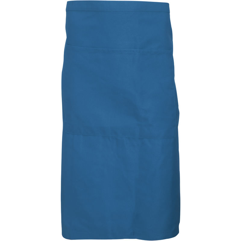 Image of Adults Unisex Catering Waist Apron With Pocket (Pack of 2) (One Size) (Sea Grass) - Dennys