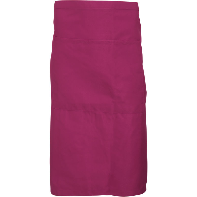 Image of Adults Unisex Catering Waist Apron With Pocket (Pack of 2) (One Size) (Claret) - Dennys