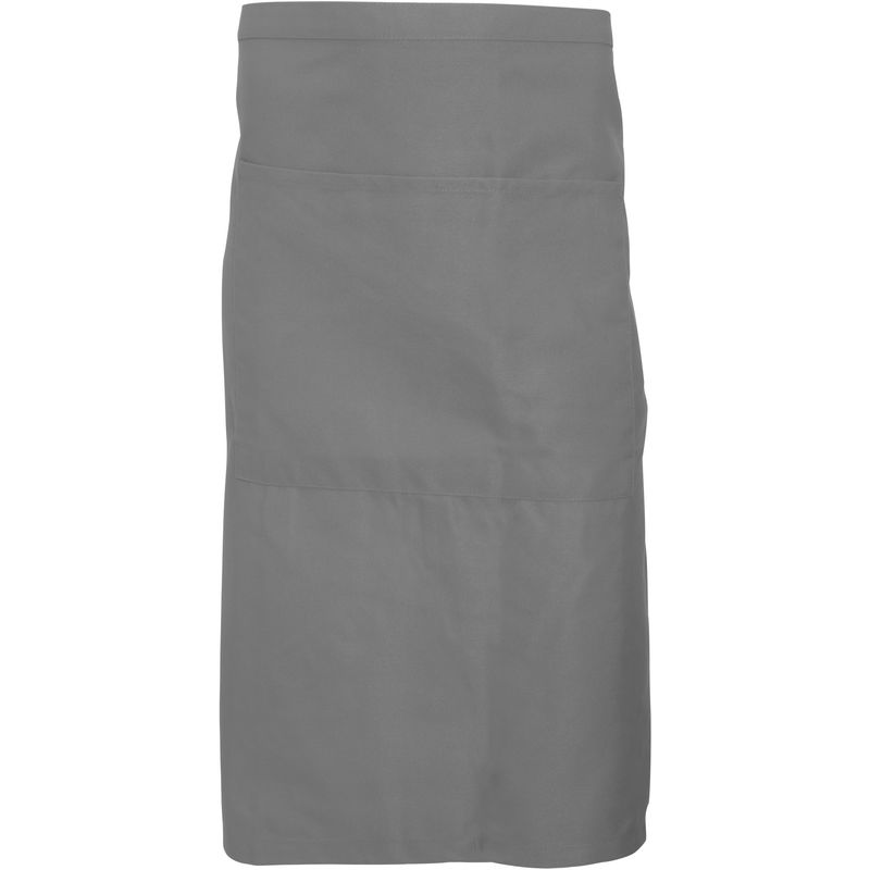 Image of Adults Unisex Catering Waist Apron With Pocket (Pack of 2) (One Size) (Griffin Grey) - Dennys