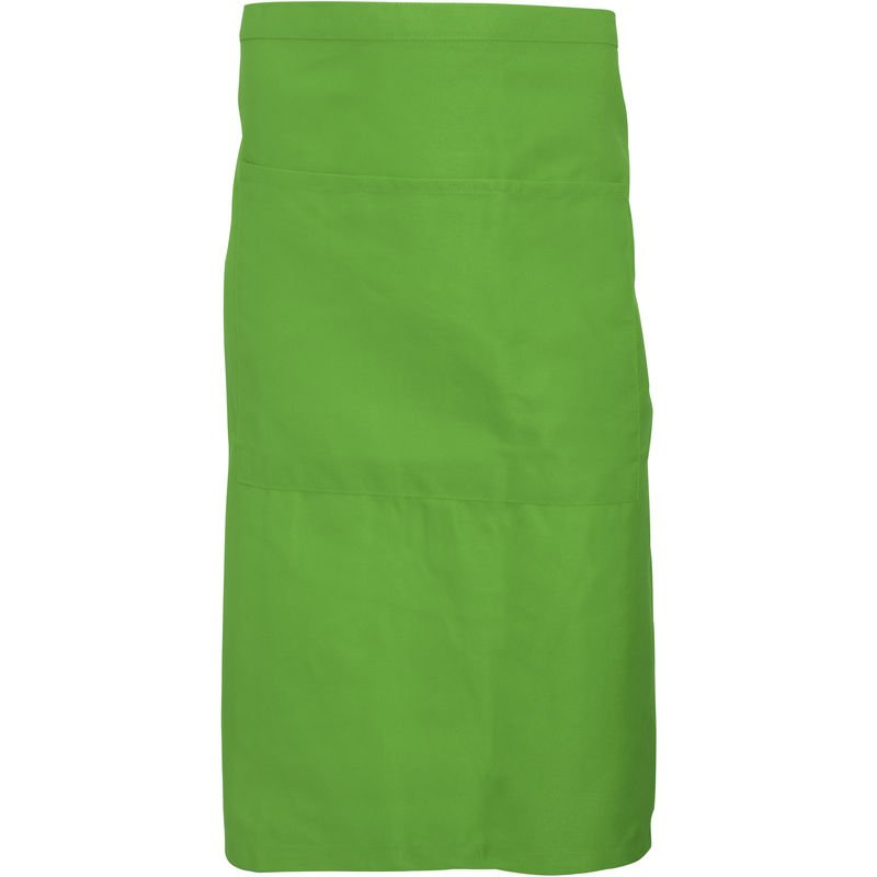 Image of Adults Unisex Catering Waist Apron With Pocket (Pack of 2) (One Size) (Light Olive) - Dennys