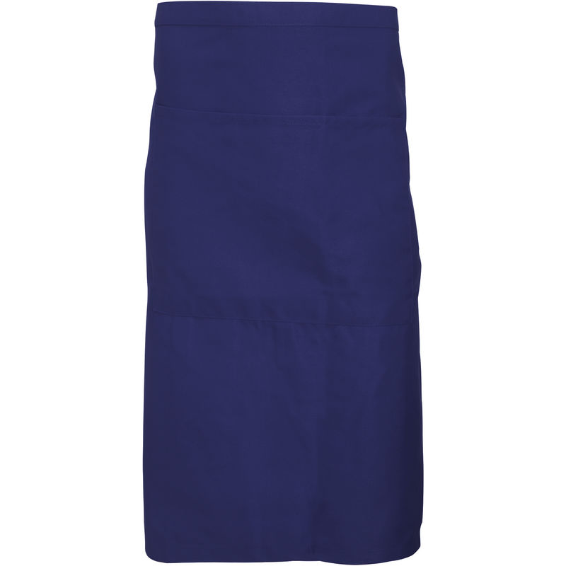 Image of Adults Unisex Catering Waist Apron With Pocket (Pack of 2) (One Size) (Navy Blue) - Dennys