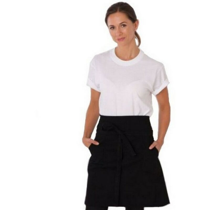 Image of Adults/Unisex Originals Waist Apron With Pocket (One Size) (Black) - Dennys