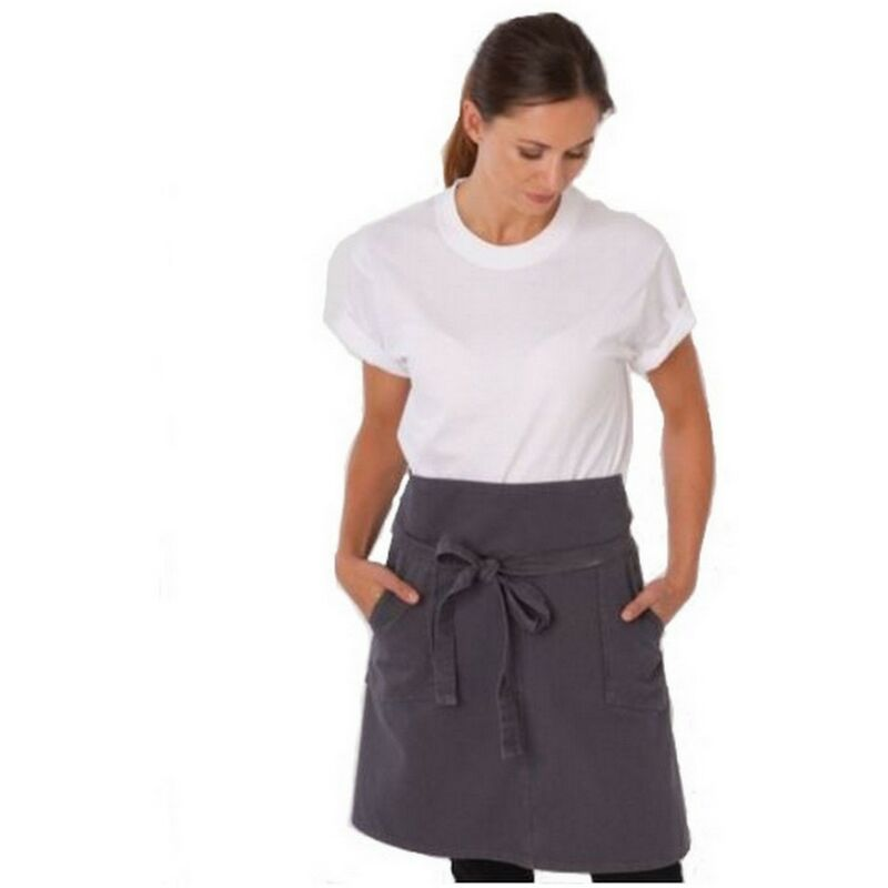 Image of Adults/Unisex Originals Waist Apron With Pocket (One Size) (Storm Grey) - Dennys