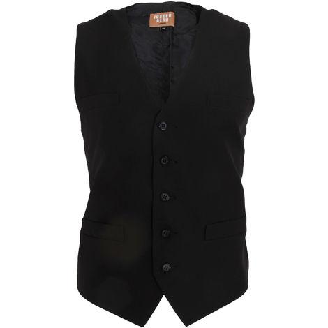 Dennys Joseph Alan Mens Plain Self Back Waistcoat (Pack of 2)