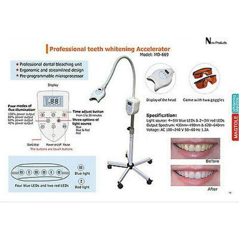 """main image of """"Dent Blanc Accelerator Blanchiment Dentaire Lampe Dentaire de Blanchiment Teeth Whitening Machine LED"""""""
