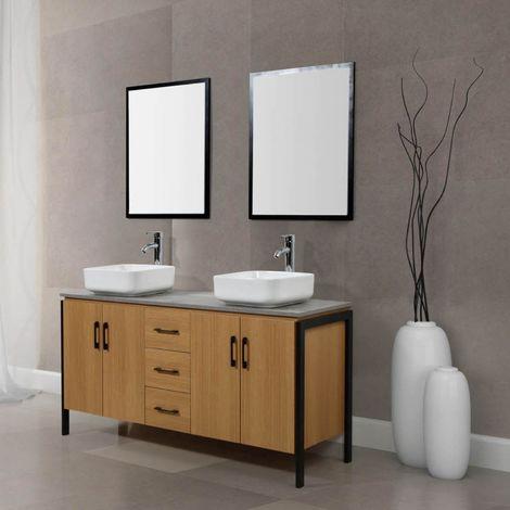 Denver bois et métal : Ensemble de salle de bain industriel ...