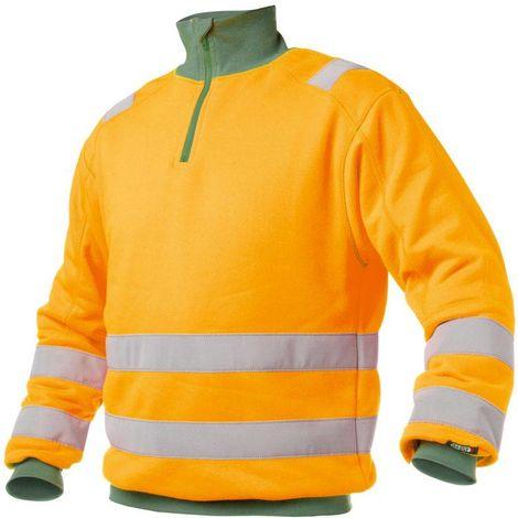 DENVER Sweat shirt de travail haute visibilité polycoton Dassy