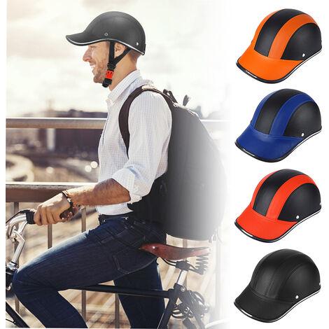 Deportes al aire libre Ciclismo Casco de seguridad Gorra de beisbol Sombrero para motocicleta Bicicleta Scooter, Azul
