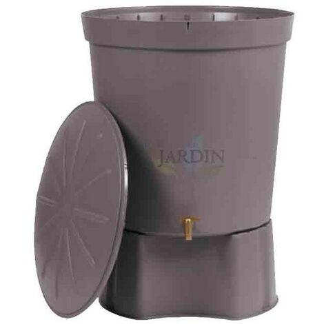 Depósito de agua de lluvia 300 litros gris + Base