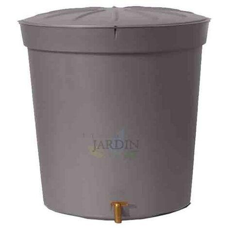 Depósito de agua de lluvia 300 litros gris granito