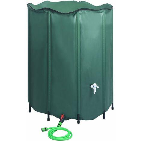 Depósito de agua de lluvia plegable con espita 1000 L