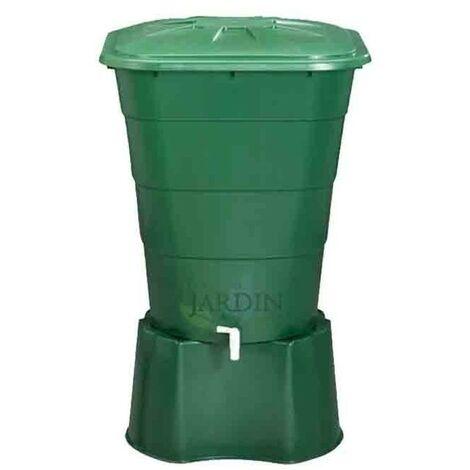 Depósito de agua de lluvia rectangular 200 litros + Base