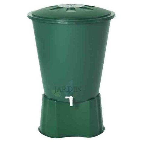 Depósito de agua de lluvia redondo 300 litros + Base