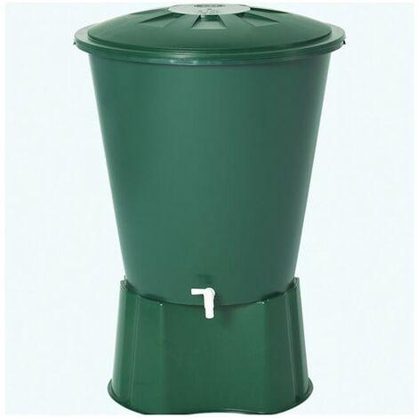 Depósito de agua de lluvia redondo 500 litros + Base