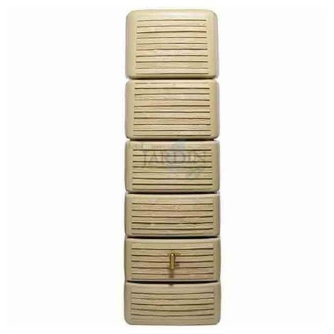 Depósito diseño pirámide 300 litros beige