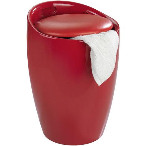 Depósito para la ropa y taburete para el baño Candy rojo WENKO